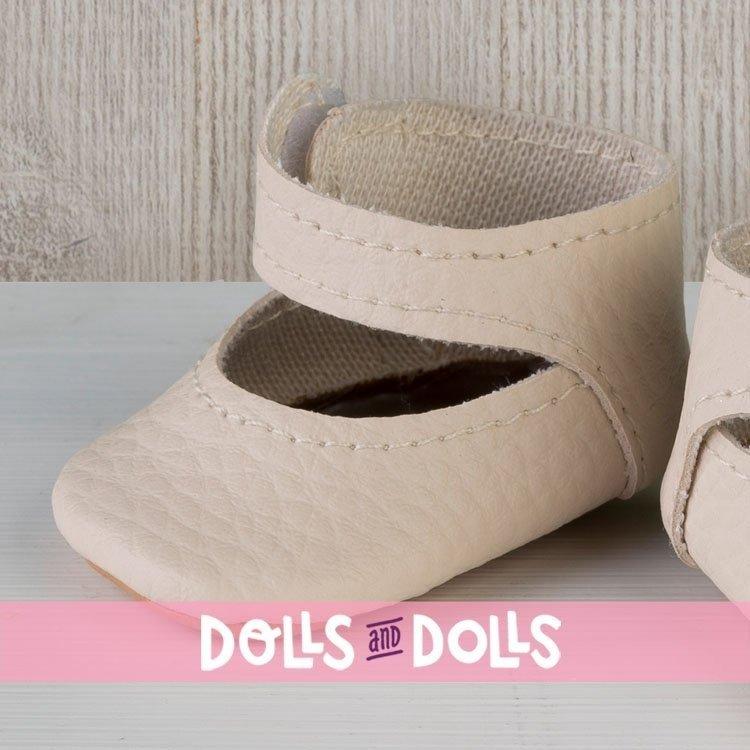 Complementos muñecas Así 36 a 40 cm - Peúcos merceditas beige para muñecos Guille, Koke y Nelly