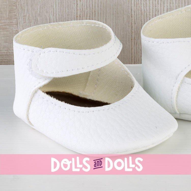 Complementos muñecas Así 36 a 40 cm - Peúcos merceditas blancos para muñecos Guille, Koke y Nelly