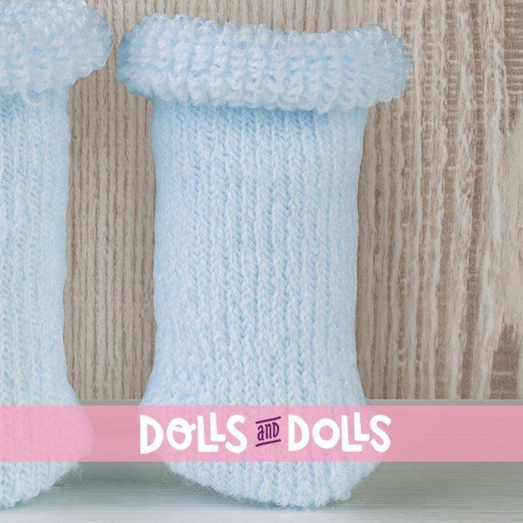 Complementos muñecas Así 36 a 46 cm - Peúcos rizo lana celestes