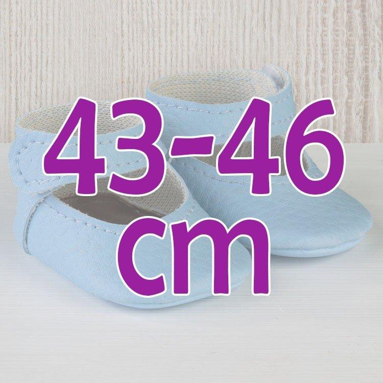 Complementos muñecas Así 43 a 46 cm - Peúcos merceditas celestes para muñecos María, Pablo, Leo, Real Reborn y Serie Limitada