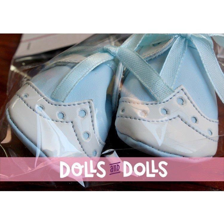 Complementos muñecas Así 43 a 46 cm - Botitas mixta bebé lazo celeste para muñecos María, Pablo, Leo y Serie Limitada