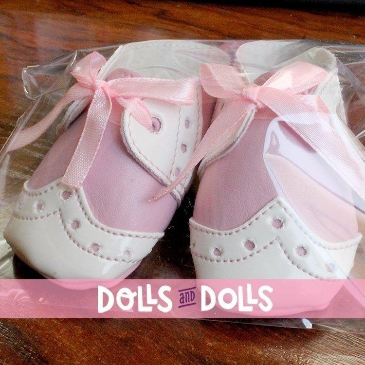 Complementos muñecas Así 43 a 46 cm - Botitas mixta bebé lazo rosa para muñecos María, Pablo, Leo y Serie Limitada