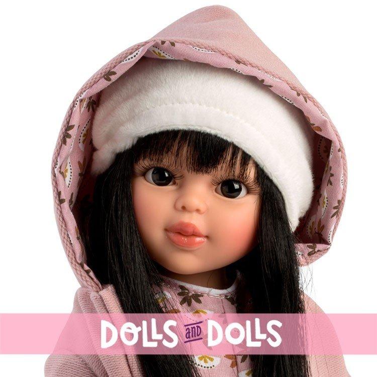 Muñeca Así 40 cm - Sabrina con mono estampado y chaquetón con capucha