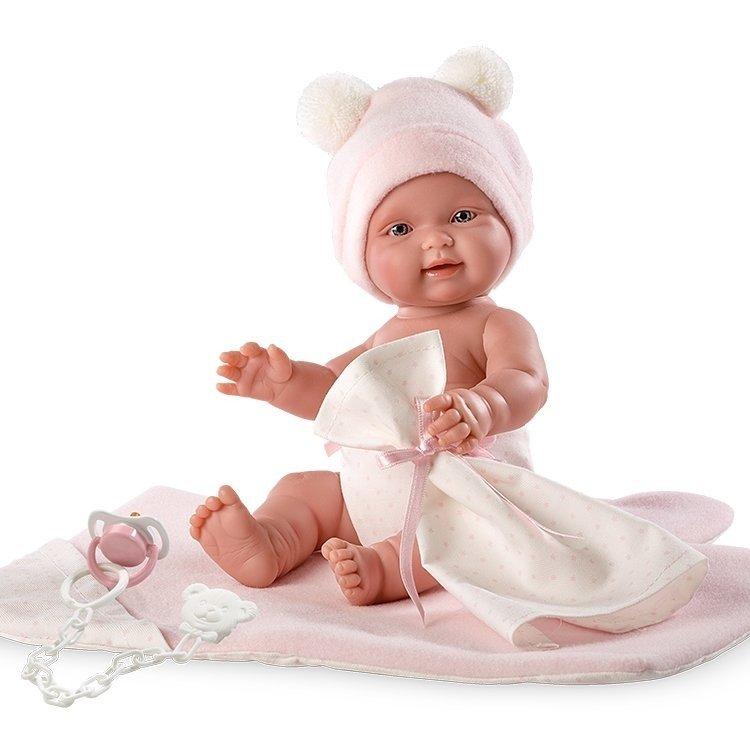Muñeca Llorens 26 cm - Bebita con cambiador rosa