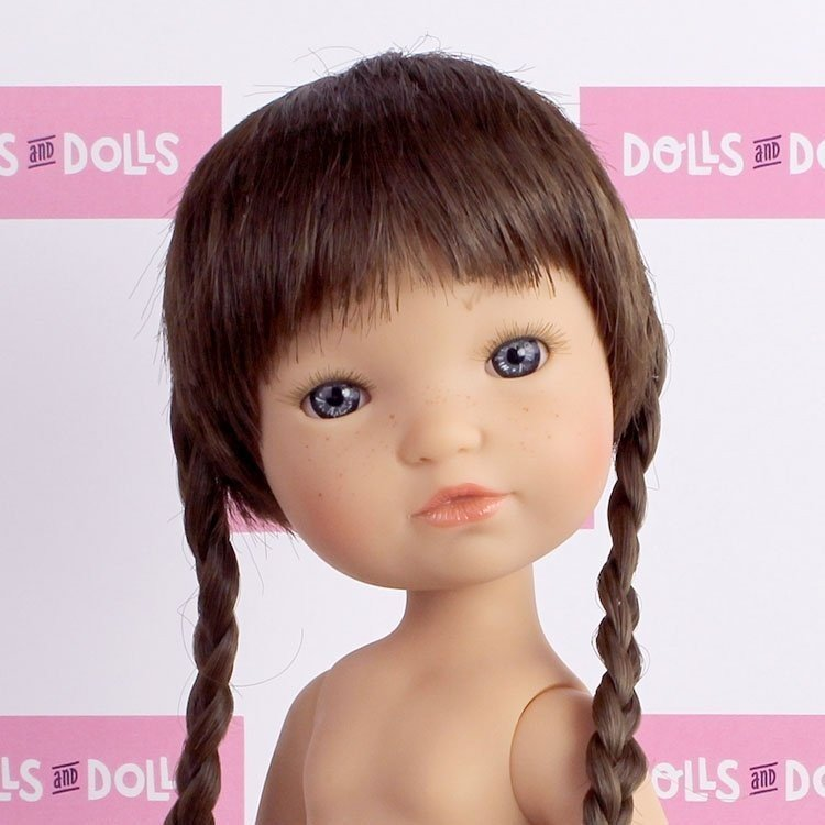 Muñeca Berjuán 35 cm - Boutique dolls - Fashion Girl Trenzas sin ropa