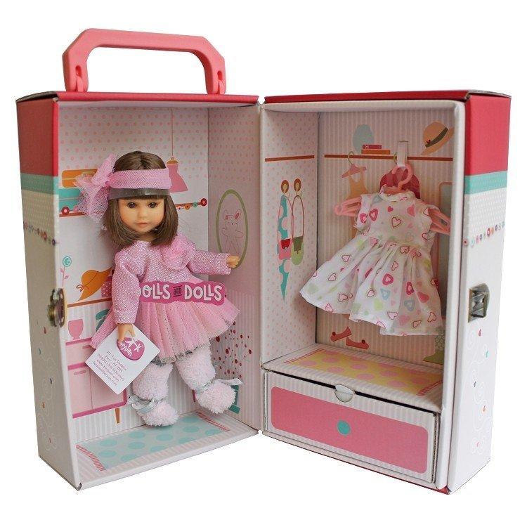 Muñeca Berjuán 22 cm - Boutique dolls - Irene morena con armario y vestido