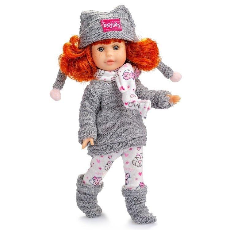 Muñeca Berjuán 22 cm - Boutique dolls - Irene pelirroja con armario y vestido