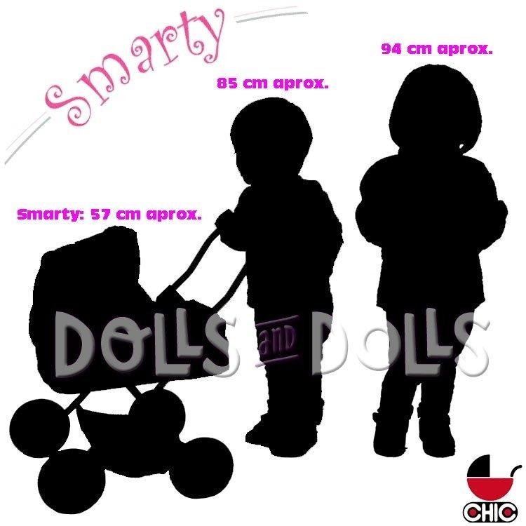 Cochecito pequeño Smarty 57 cm para muñecas - Bayer Chic 2000 - Lila