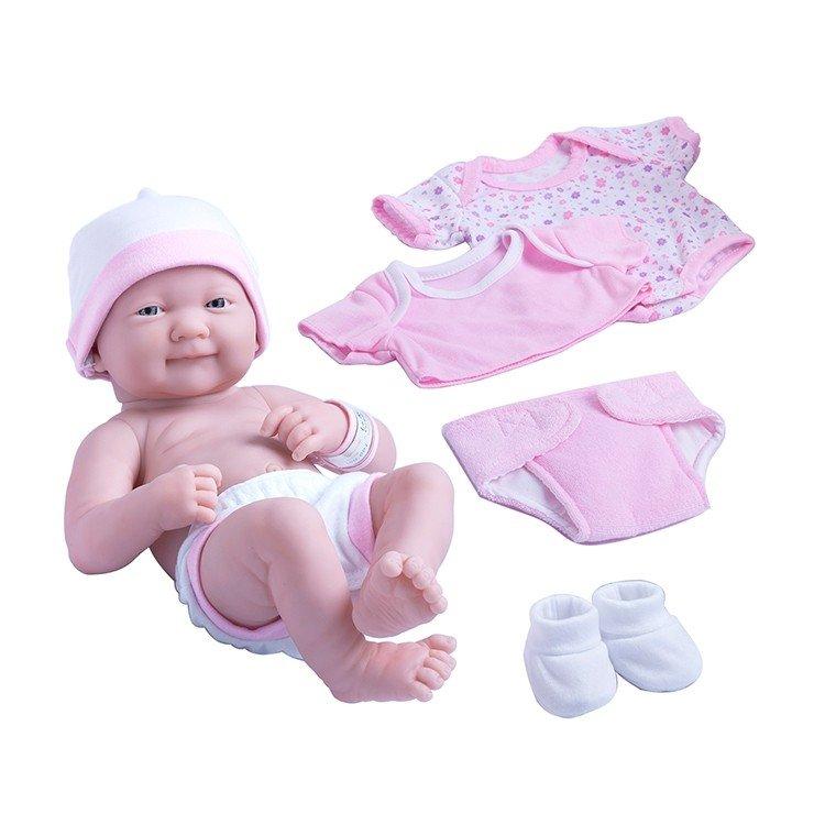 Muñeca Designed by Berenguer 36 cm - La newborn - Tiernos cuidados con boca cerrada y set de ropa