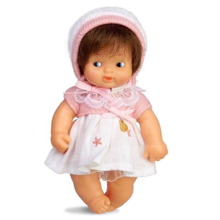 Muñeca Barriguitas Clásica 15 cm - Bebé niña morena con vestido