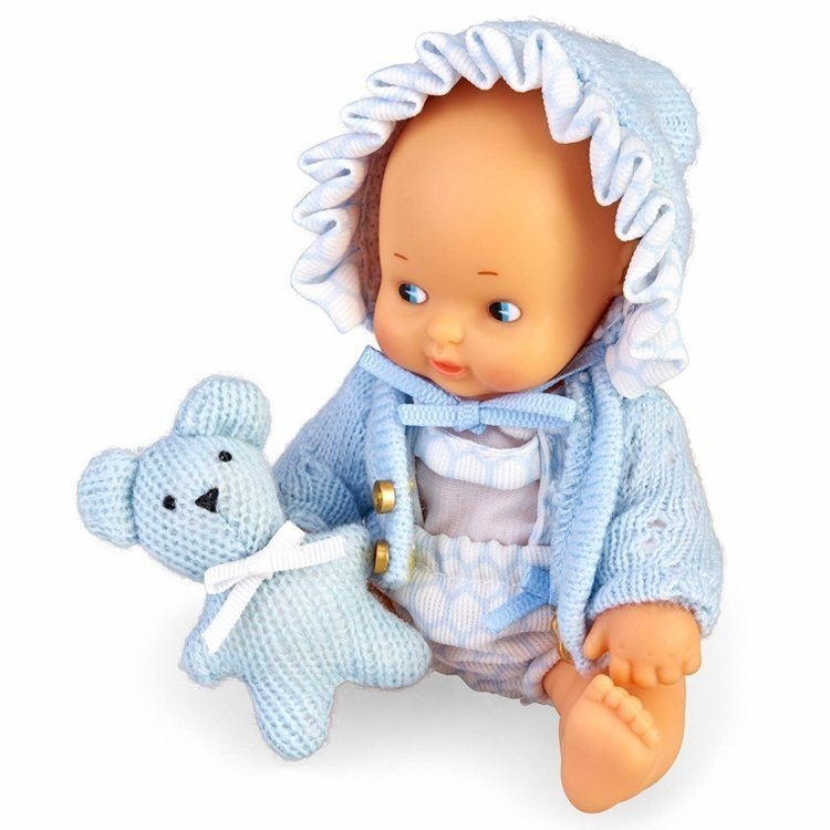 Muñeca Barriguitas Clásica 15 cm - Set de bebé con ropita azul