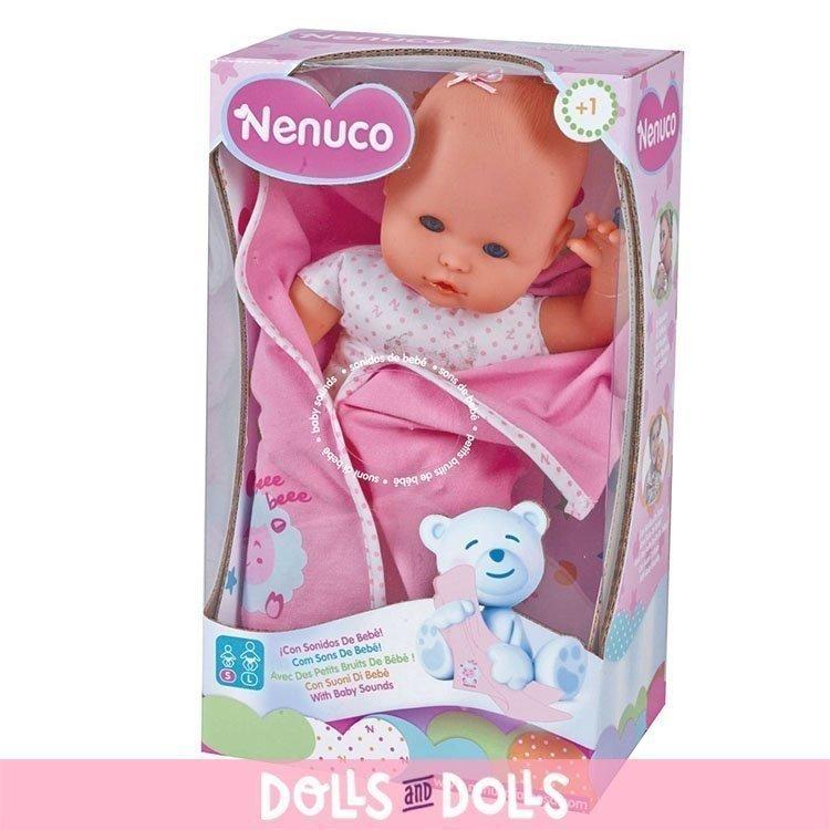 Muñeco Nenuco 35 cm - Recién nacido con sonidos de bebé
