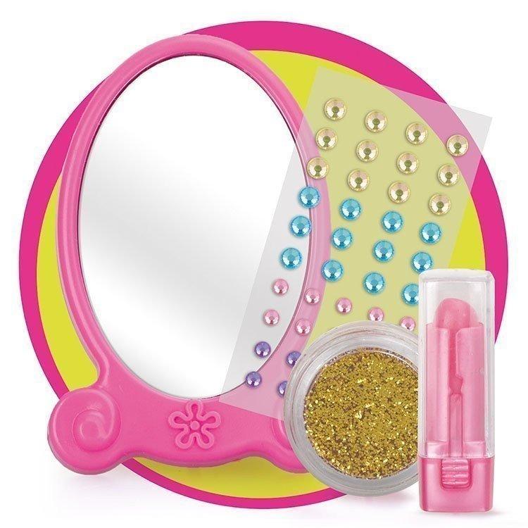 Complementos para muñeca Nancy 43 cm - Accesorios Fashion - Espejo y pintalabios