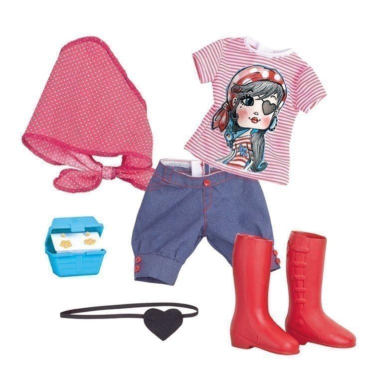 Ropa para muñeca Nancy 43 cm - Un día de aventuras - Conjunto pirata