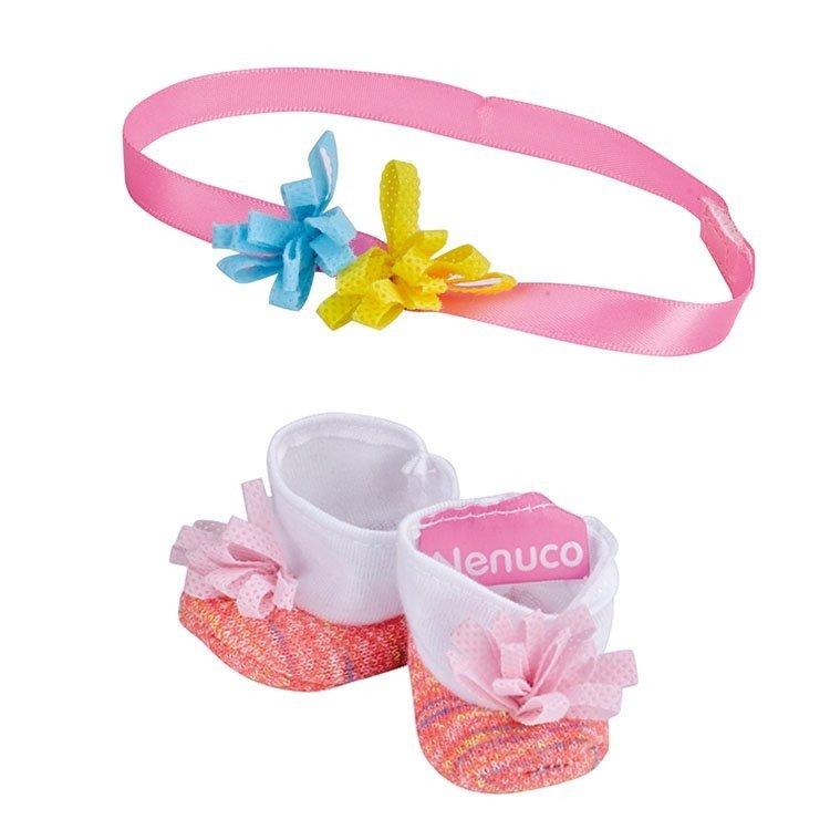 Zapatos y accesorios de 35 cm para muñeco Nenuco - Peúcos y diadema