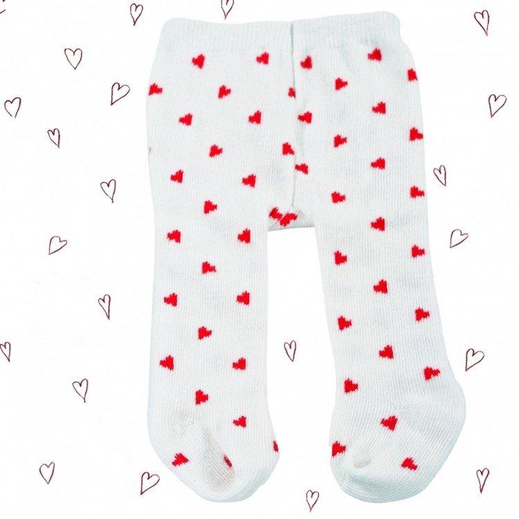 Complementos para muñeca Götz 36-50 cm - Medias blanco roto con corazones