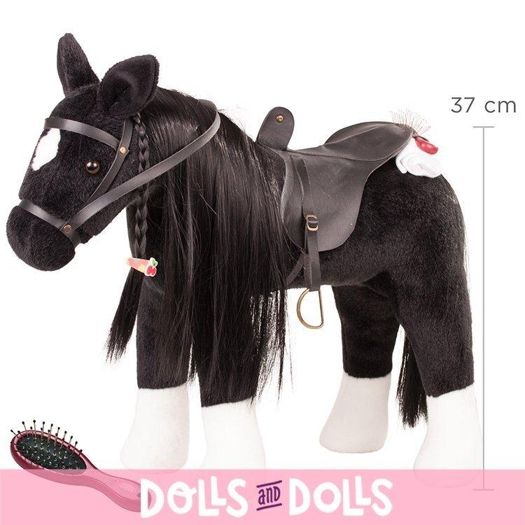 Caballo negro para muñeca Hannah de 50 cm de Götz