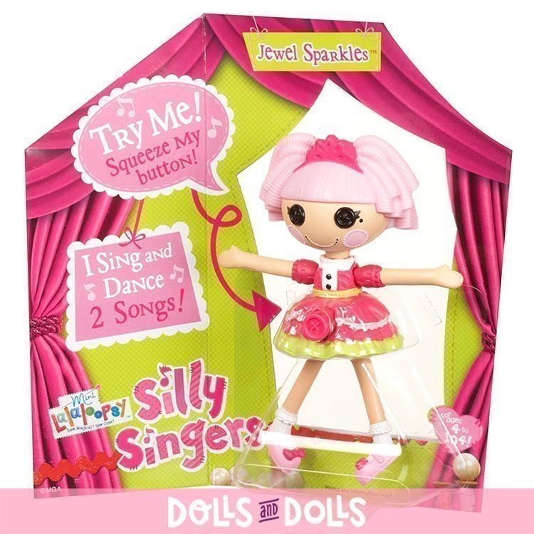 Muñeca Lalaloopsy 12 cm - Mini Lalaloopsy Silly Singers - Jewel Sparkles