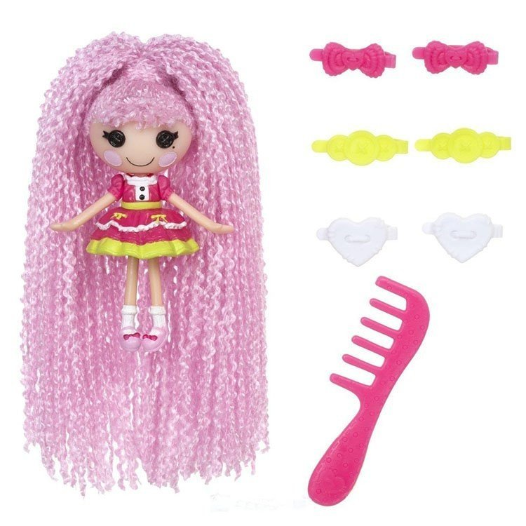 Muñeca Lalaloopsy 7.5 cm - Mini LL Loopy Hair - Jewel Sparkles