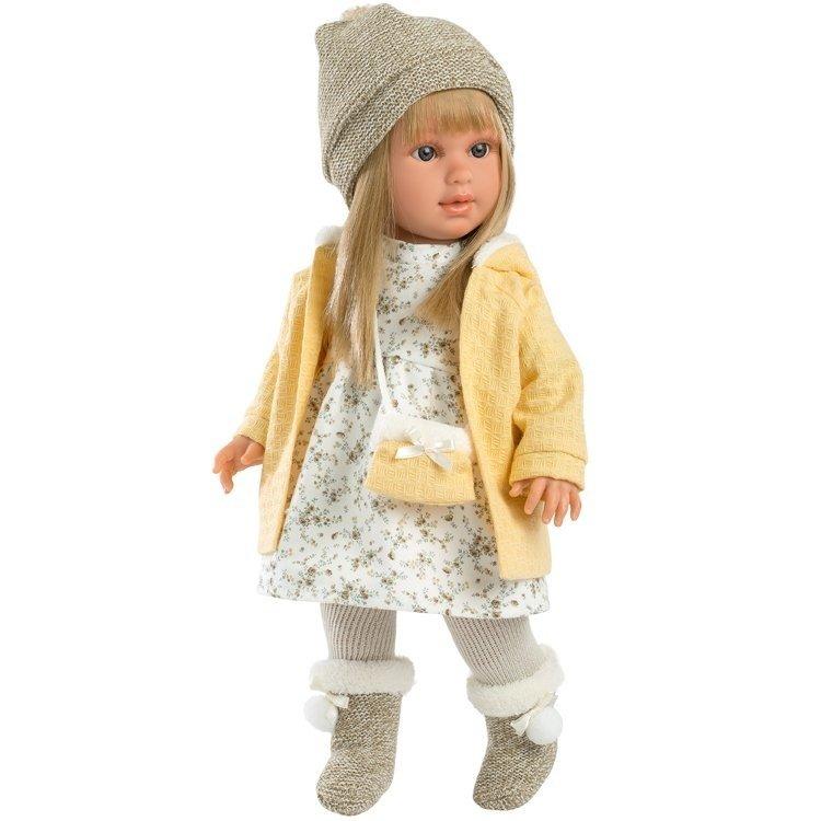 Muñeca Llorens 40 cm - Martina rubia con chaqueta amarilla