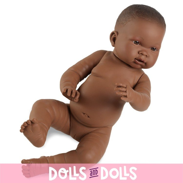 Muñeca Llorens 45 cm - Nena negrita sin ropa