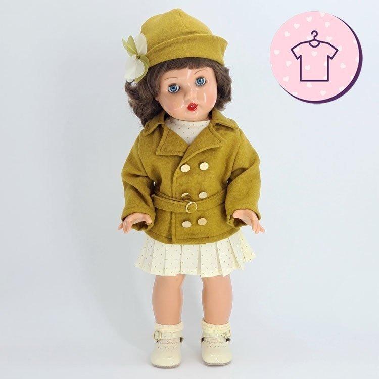 Ropa para muñeca Mariquita Pérez 50 cm - Conjunto americana ocre