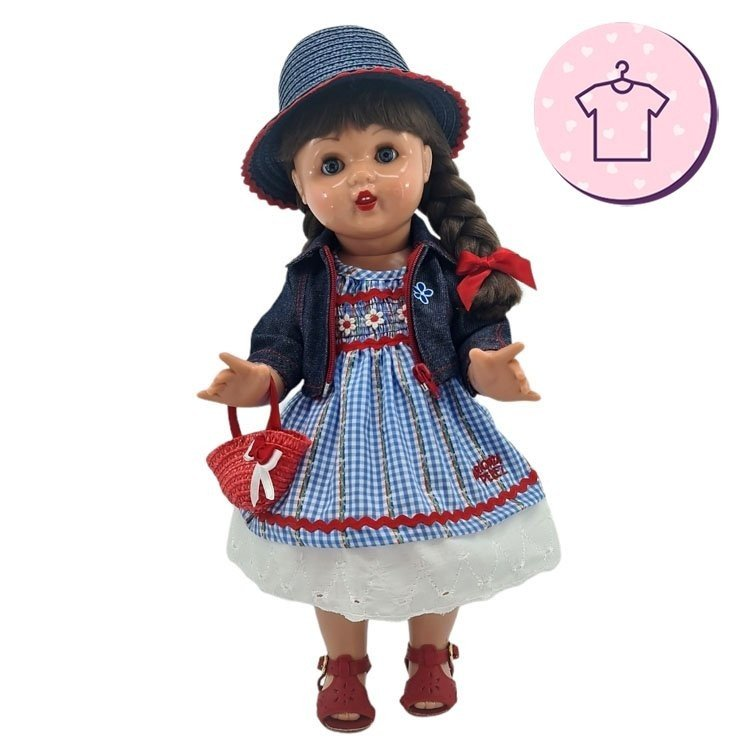 Ropa para muñeca Mariquita Pérez 50 cm - Conjunto campesina