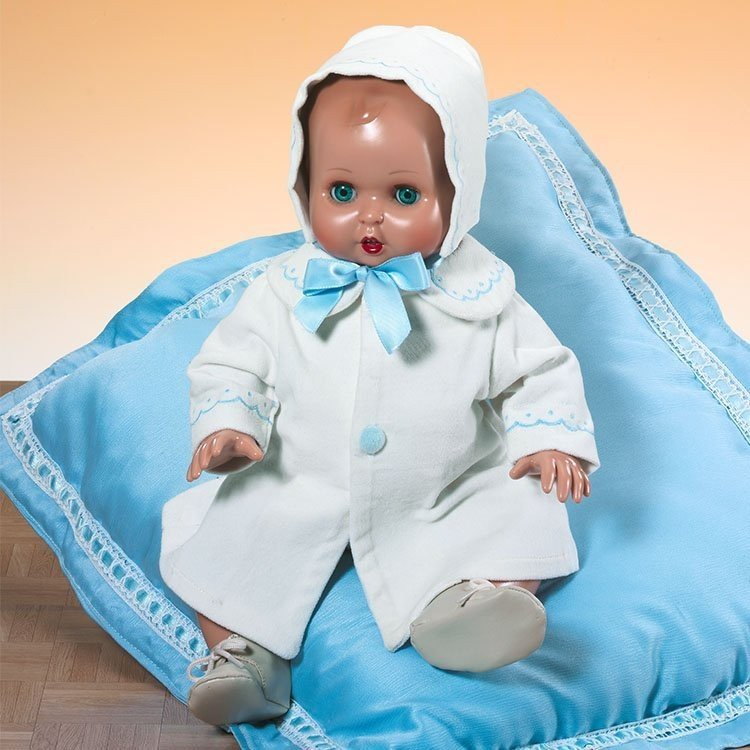 Muñeco Juanín Bebé 40 cm - Con abrigo y capota beige