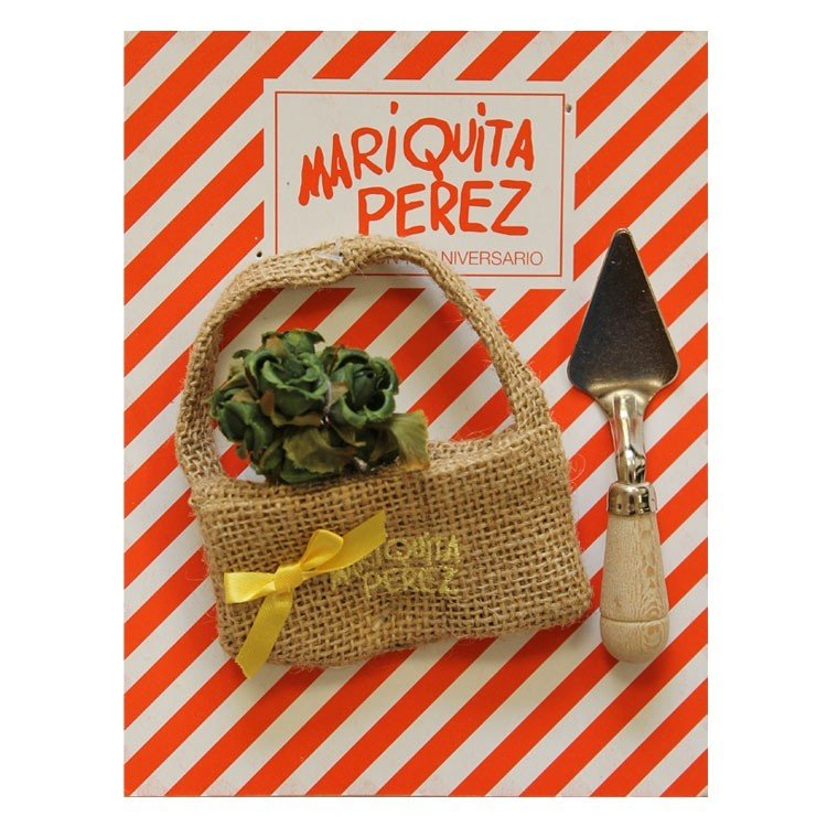 Complementos para muñecas Mariquita Pérez 50 cm - Set jardinera