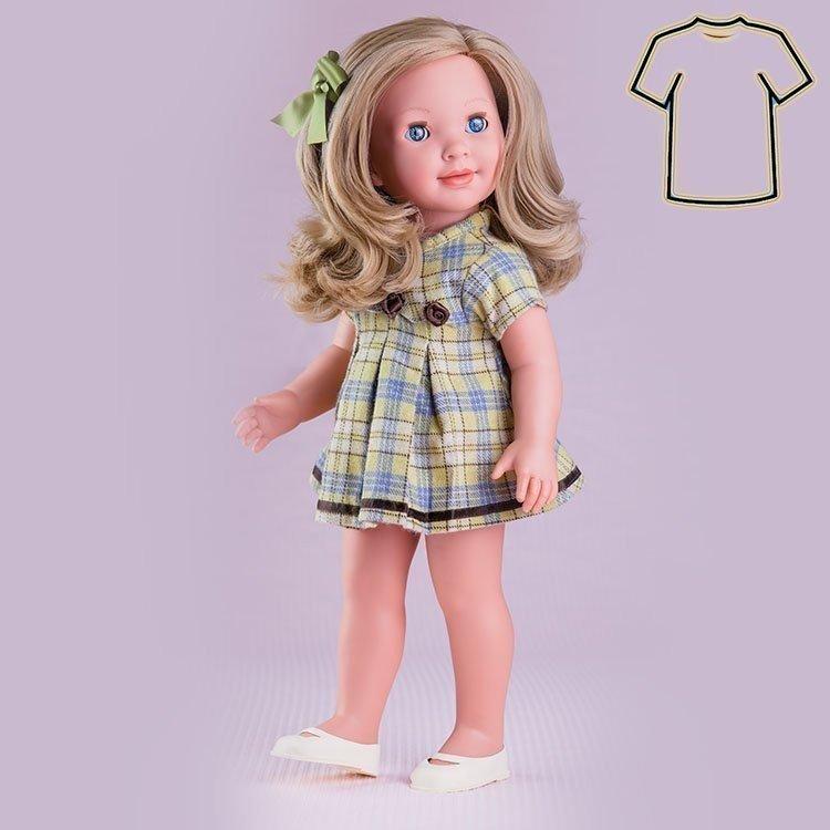 Ropa para muñeca Miel de Abeja 45 cm - Carolina - Vestido verde y marrón