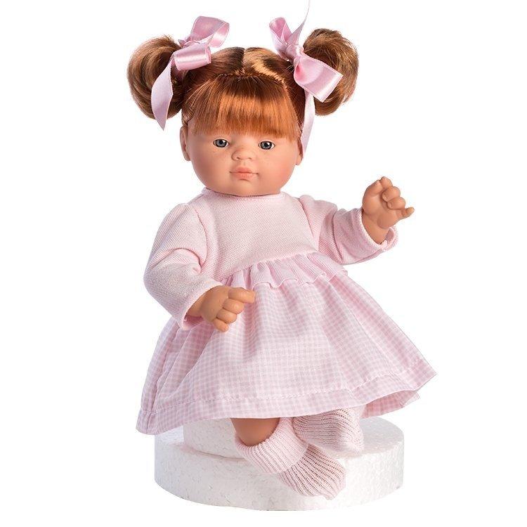 Muñeca Así 36 cm - Guille con vestido de vichy rosa con pechera de punto