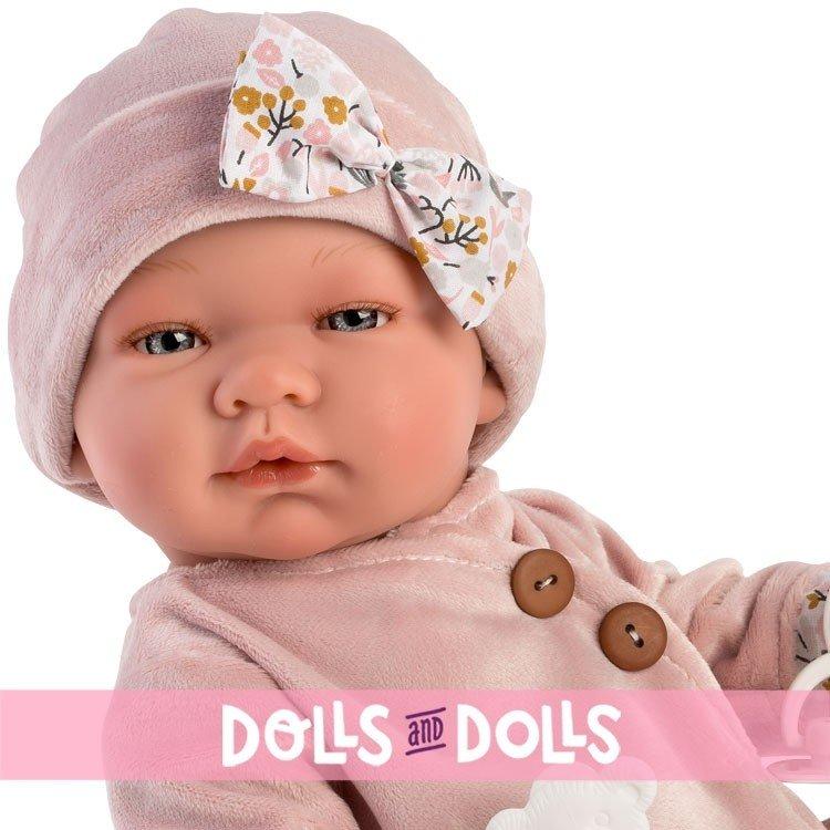 Muñeca Así 43 cm - María con conjunto de terciopelo rosa-viejo