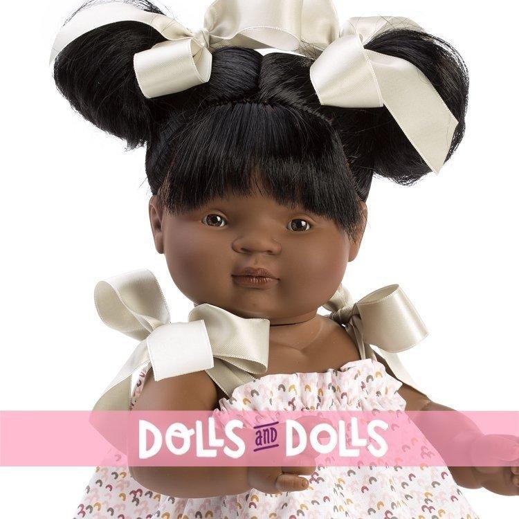 Muñeca Así 36 cm - Sammy con vestido estampado con lazos verdes