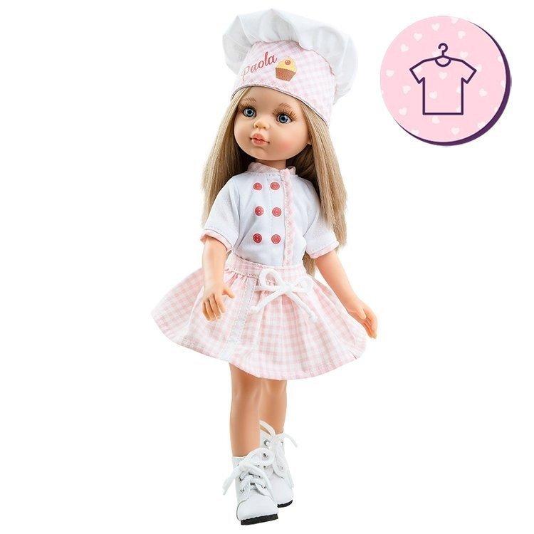 Ropa para muñecas Paola Reina 32 cm - Las Amigas - Conjunto Carla Pastelera