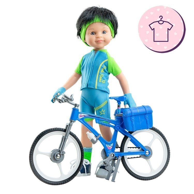 Ropa para muñecas Paola Reina 32 cm - Las Amigas - Conjunto Carmelo Ciclista