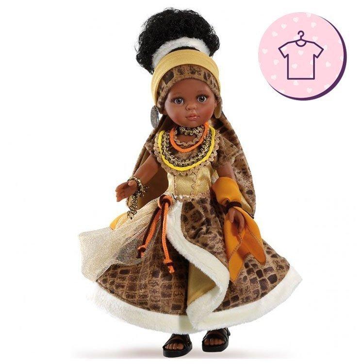 Ropa para muñecas Paola Reina 32 cm - Las Amigas - Vestido Nora africana