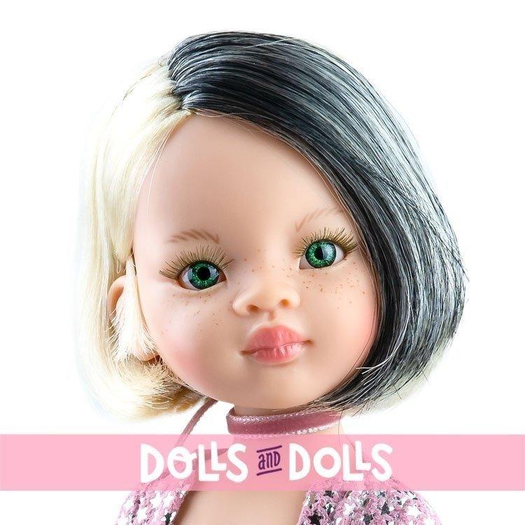 Muñeca Paola Reina 32 cm - Las Amigas Funky - Liu con conjunto rosa