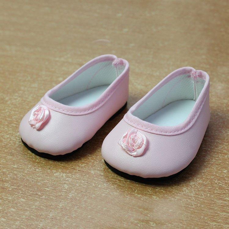 Complementos para muñecas Paola Reina 60 cm - Las Reinas - Zapatos rosas con flor