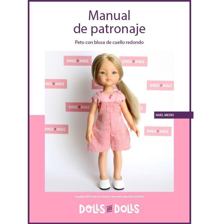 Patrón descargable Dolls And Dolls para muñecas Las Amigas - Peto con blusa