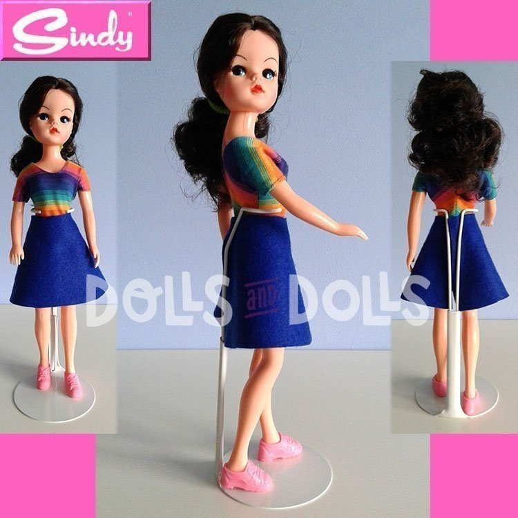 Peana metálica 2201 color blanco para muñecas tipo Barbie