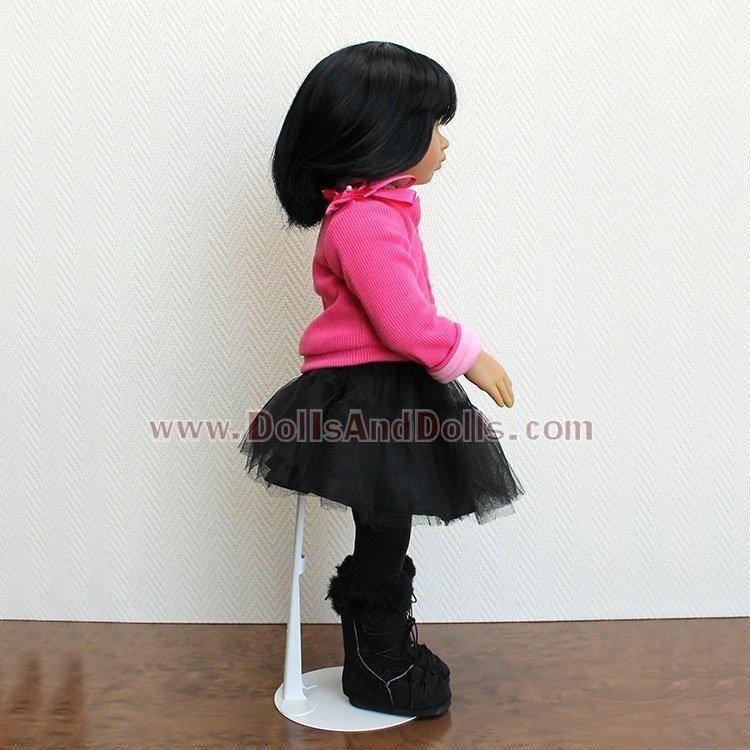 Peana metálica 2501 color blanco para muñecos tipo Nancy KidznCats