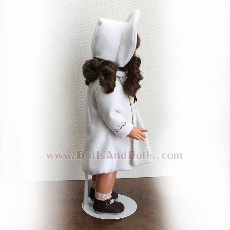 Peana metálica 3101 color blanco para muñecas tipo Mariquita Pérez