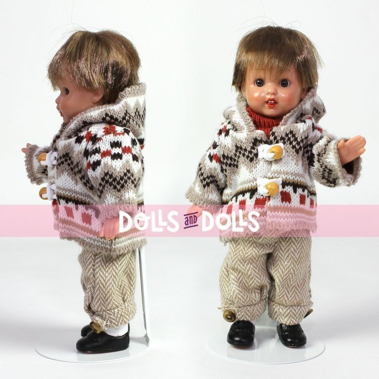 Peana metálica 2001 color blanco para muñecas tipo MINI Mariquita Pérez