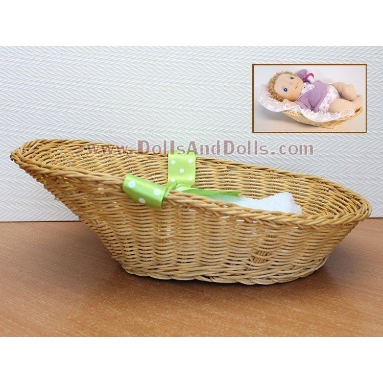 Complementos para muñecas Rubens Barn 45 cm - Rubens Baby - Cesta y manta