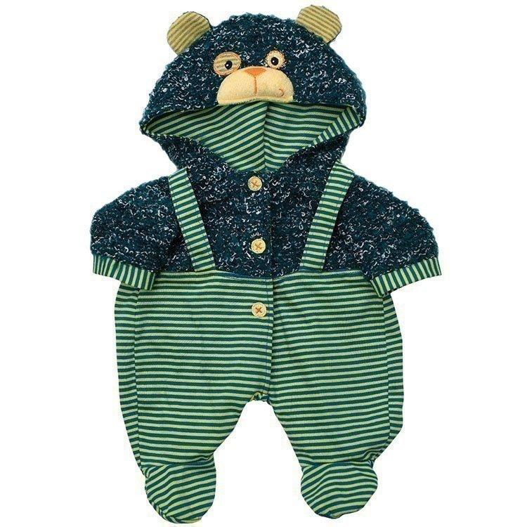 Ropa para muñecos Rubens Barn 45 cm - Rubens Baby - Mono con capucha osito