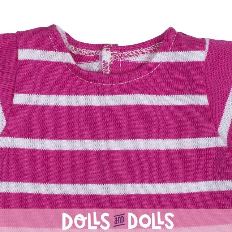 Ropa para muñecas Rubens Barn 36 cm - Ropa para Rubens Ark y Kids - Camiseta rosa