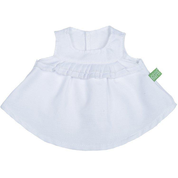 Ropa para muñecas Rubens Barn 36 cm - Ropa para Rubens Ark y Kids - Top blanco