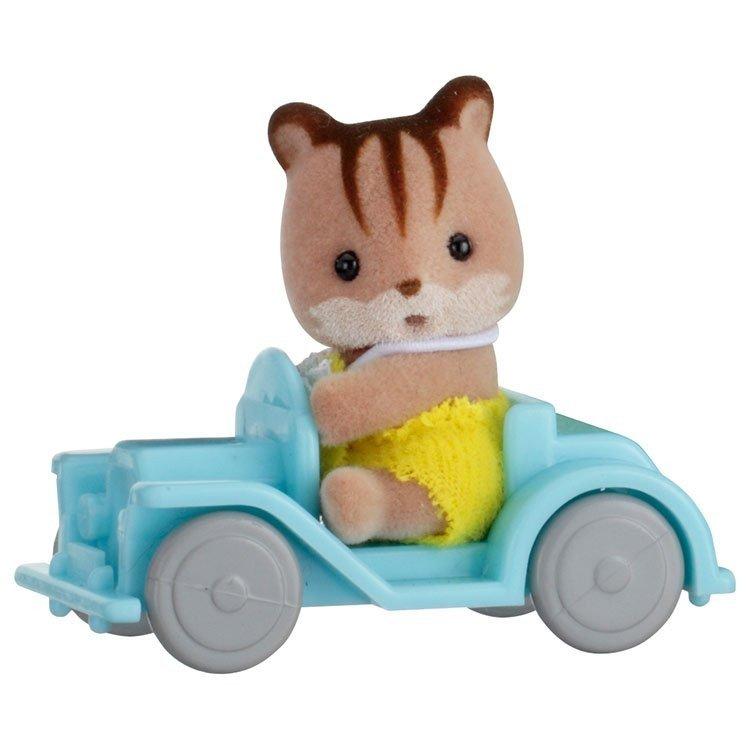 Sylvanian Families - Bebé para llevar - Ardilla en coche