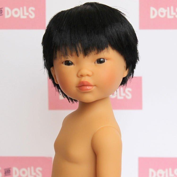 Muñeco Vestida de Azul 28 cm - Los amigos de Carlota - Kenzo pelo negro sin ropa