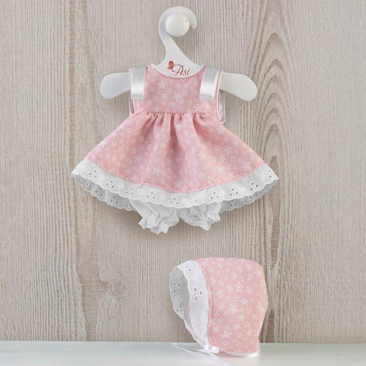 Ropa para Muñecas Así 36 cm - Vestido jesusito de estrellas rosa para muñeca Chinín